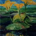 16 - Fleurs aquatiques - huile 41x33