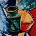 7 - Nature morte - huile d'après Picasso 35x27