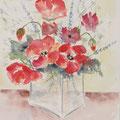 16 - Bouquet de fleurs - aquarelle 40x30
