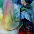 2 - Confidences - huile inspirée de J.Tollet-Loëb 65x46