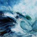 67 - Vague de surf - huile 50x50