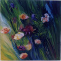12 - Fleurs printanières - huile 50x50