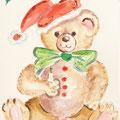 11 - Ours Noël - aquarelle 15x11