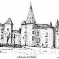 21 - Château de Chillac -  encre de chine 11x15