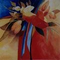 9 - Bouquet de tulipes - huile d'après Janko 50x50