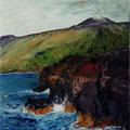 119 - Mer et volcan - huile 46x38