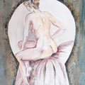 13 - Indiscrétion - aquarelle 40x30