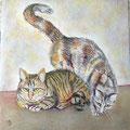 49 - Les chats d'Audrey - pastel 32x29