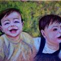 93 - Portraits champêtres - pastel 30x45