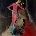 15 - L'acteur - huile d'après Picasso 41x33