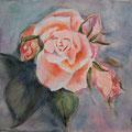 25 - Boutons de rose - aquarelle 25x33