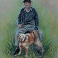 8 - Camille et son chien Bissou - pastel 30x24