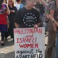 femmes israéliennes et palestiniennes contre le mur d'apartheid