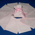 cotone rosa pois bianco