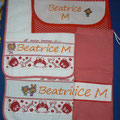 "Set asilo Beatrice "" Way-buloo"" rosso"
