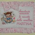 """Annuncio nascita Anastasia """" BIMBA con CONIGLIO"""""""