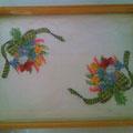 vassoio mazzo di fiori
