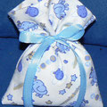 mix animaletti azzurro fondo bianco piquet