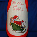 "copri bottiglia "" BABBO SLITTA CLASSICA """