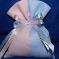 sacchetto x gemelli rosa e azzurro