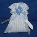 cotone righe bianco e azzurro