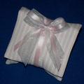 Cuscino righe bianco/rosa