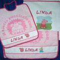 set asilo 3 pezzi Linda + Peppa pig