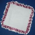 cuscino quadrato bianco + bordò