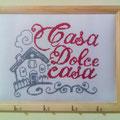 """quadretto porta chiavi """" CASA DOLCE CASA """""""