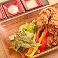 若鶏の唐揚げと素揚げ野菜