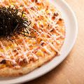木更津海苔と明太ソースのピザ