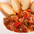 トリッパと白インゲン豆のトマトソース煮込み