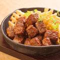 牛ランプ肉のひとくちステーキ