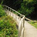 Les chemins bétonnés pour les randonneurs