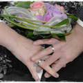 Schwarz-weiß Foto mit Farbakzent