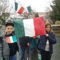 Klasse 4b als Vertreter Italiens