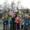 Klasse 3b als Vertreter Großbritanniens