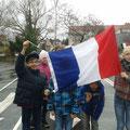 Klasse 4a als Vertreter Frankreichs
