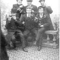17 février 1907 - Souvenir du dimanche du carnaval de Nivelles. Dandois-Mizet-Delwasse-Lacroix-Benoit