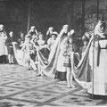 L'abbesse de Nivelles et sa suite de chanoinesses