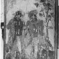 Un des panneau du char - Deux cavalilers
