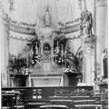 1930 - Intérieur de la chapelle de l'hôpital