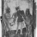 Un des panneau du char - Le chevalier de Maaseik vendant son âme
