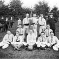Edgar Semal et sa première équipe de football