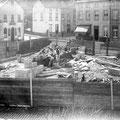 Construction du monument de Lalieux