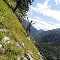 Meike im Klettersteig