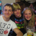 Jonas, Phil und Meike beim Kanutenball