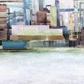 O.T., 2009/2014 (Überarbeitet), Eitempera/Öl auf Leinwand, 50 x 385 cm