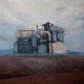 O.T. (Arbeitstitel: Ackerlandschaft), 2006/2012 (Überarbeitet), Acryl auf Leinwand, 105 x 120 cm