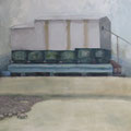 O.T. (Arbeitstitel: Sommerlandschaft mit Schafen), 2006, Acryl auf Leinwand, 110 x 145 cm